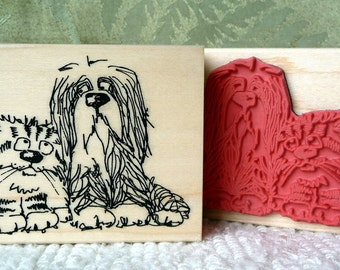 Dubious Dog rubber stamp from oldislandstamps