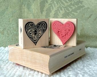 Heart rubber stamp from oldislandstamps