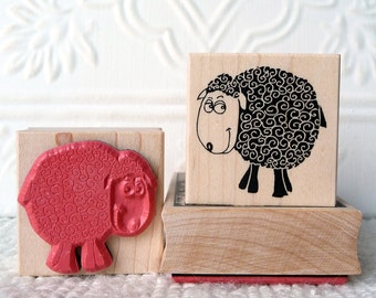 Bashful Blacksheep rubber stamp from oldislandstamps