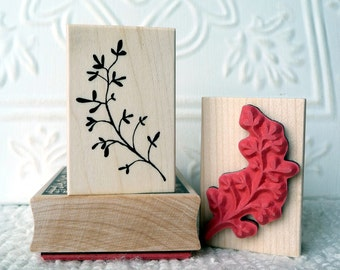 Spriggy Thing branch rubber stamp from oldislandstamps