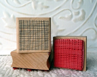 Small Background Mesh rubber stamp from oldislandstamps