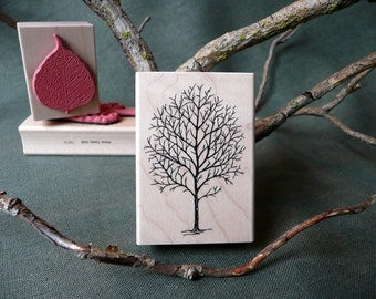 Fall Tree rubber stamp from oldislandstamps