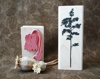 Botanical Silhouette Tree rubber stamp from oldislandstamps