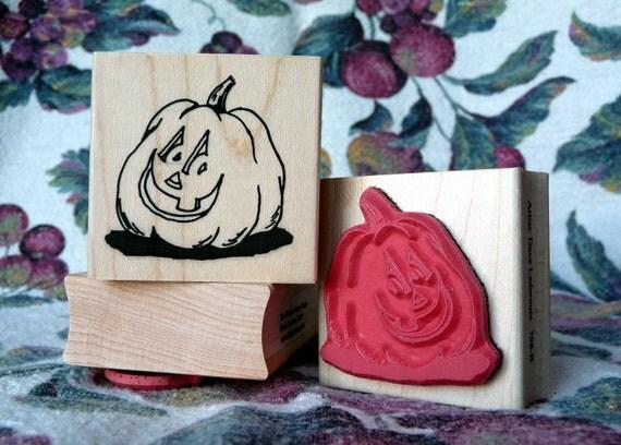 Punk'n Head pumpkin rubber stamp from oldislandstamps