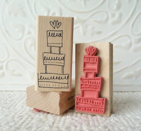 wedding cake rubber stamp from oldislandstamps. Black Bedroom Furniture Sets. Home Design Ideas