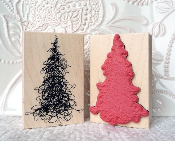 Scribble Tree rubber stamp from oldislandstamps