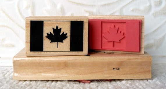 Canada Flag rubber stamp from oldislandstamps