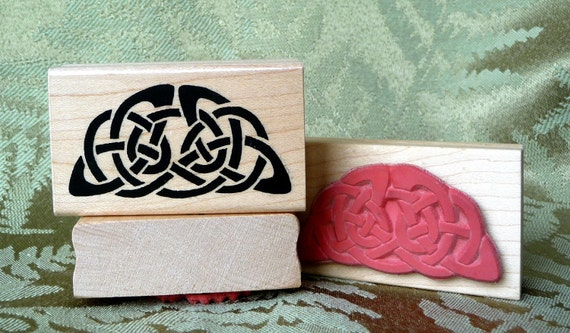 Celtic Half Circle rubber stamp from oldislandstamps