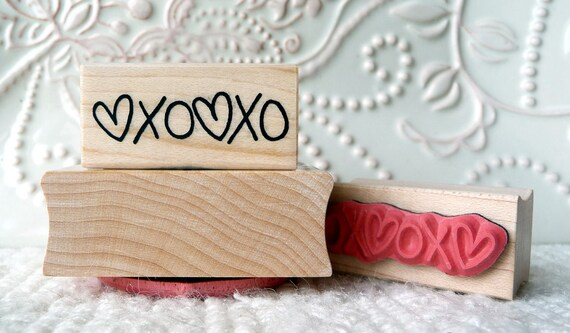 Hearts, Hugs and Kisses rubber stamp from oldislandstamps