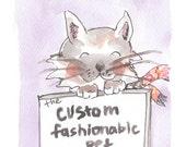 Custom Fashionable Pet 5 x 7