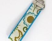Keychain Wristlet - Wrist Key Fob - Key chain - Squash Blossoms