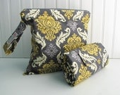 Diaper Changing Pad and Wet Bag - Nappy Change Mat and Nappy Bag - You choose Fabric - Made to Order
