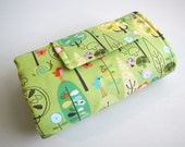 Diaper Changing Pad Roll Up - Happier Trees in Green - READY TO SHIP