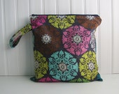Colorful bursts on Navy - Waterproof - Eco Friendly - Reusable - Made to Order