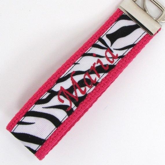 items similar to personalized keychain wristlet - wrist key fob - keychain