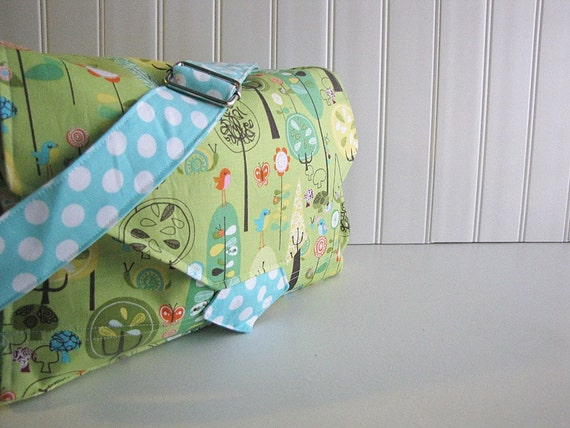 WipeME 'N DipeME Stroller Bag with Changing Pad - Custom All-in-One Diaper Bag - You Choose Fabric - Made to Order