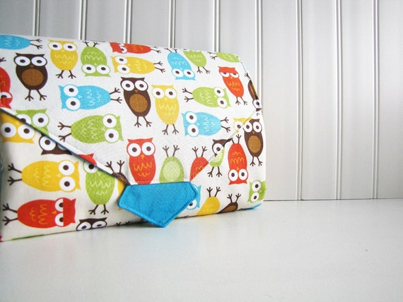 All-in-1 Changing Pad Diaper Clutch - WipeME 'N DipeME - Custom - Wipeable Waterproof lining - Made to Order