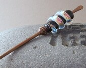 Copper and Lampwork Hairstick