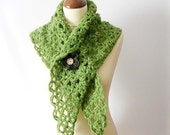 Green Lace Scarf Little Shawl