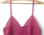 Halter Top Cyclamen OOAK