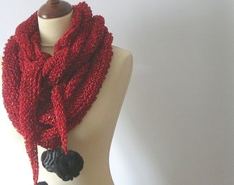 Triangular Red Shawl