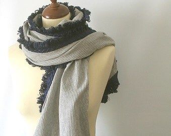Grey  Fabric Shawl Stole