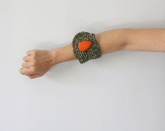 Green Cuff Bracelet