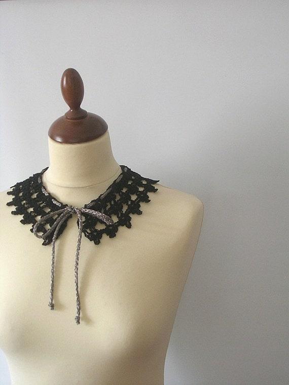 Black Lace Collar Necklace