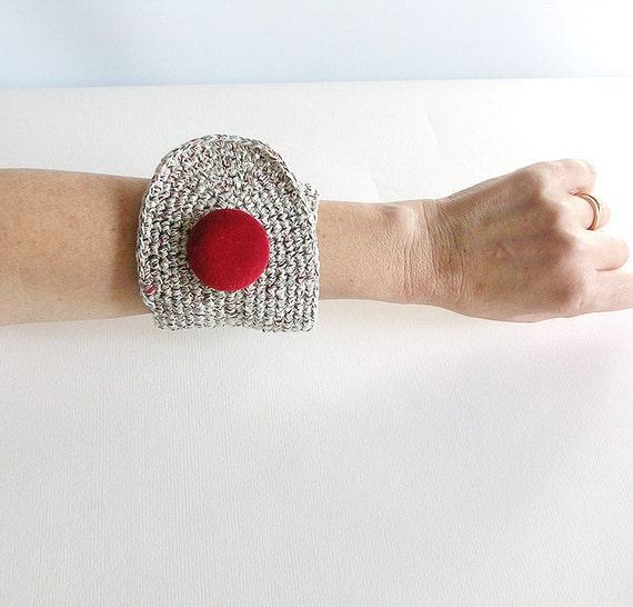 Crochet  Bracelet Wrist Cuff
