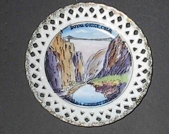 Hanging Plate Royal Gorge Colorado