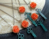 Vintage Key Necklace - Salvaged Beauty
