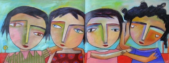 Las amigitas del barrio - '' friends of the neighborhood ''