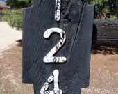 Fused Glass House Numbers