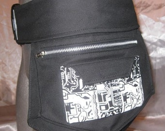 THE UTILIBOT BELT M CaRGo PoCkEt Futuristic Cyber Goth Custom Made For You RoBoTIc KiTtY