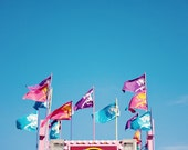 Sweet Sky - 5x7 Fine Art Photography Print -  carnival fair cottoncandy pink purple blue  photograph - riotjane