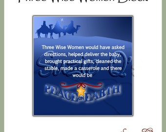 Christmas Three Wise Women Square Graphics -  Digital Printable - Great for glass blocks, tiles, cards, magnets, etc. - Immediate Download