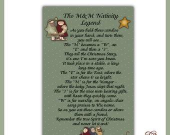 M&M Nativity Legend 4x6 Card Front - Digital Printable - Immediate Download