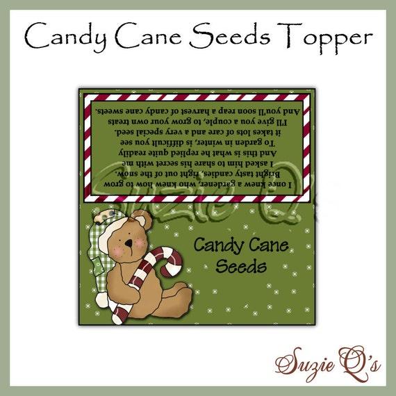 Candy Cane Seeds Topper - Digital Printable - Good Craft Show Seller ...