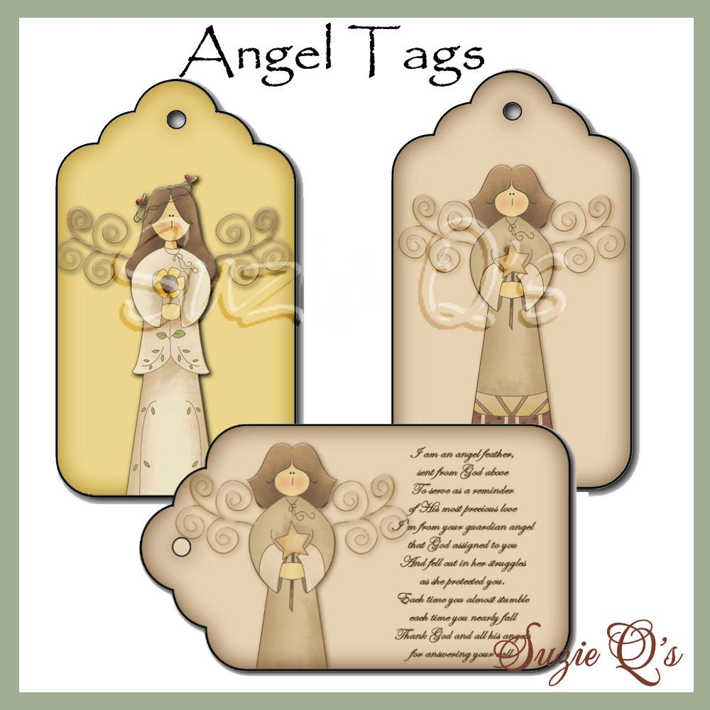 Printable Angel Tree Tags Angel tags - includes 1 with