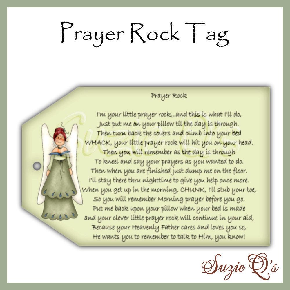 Impertinent image in prayer rock printable