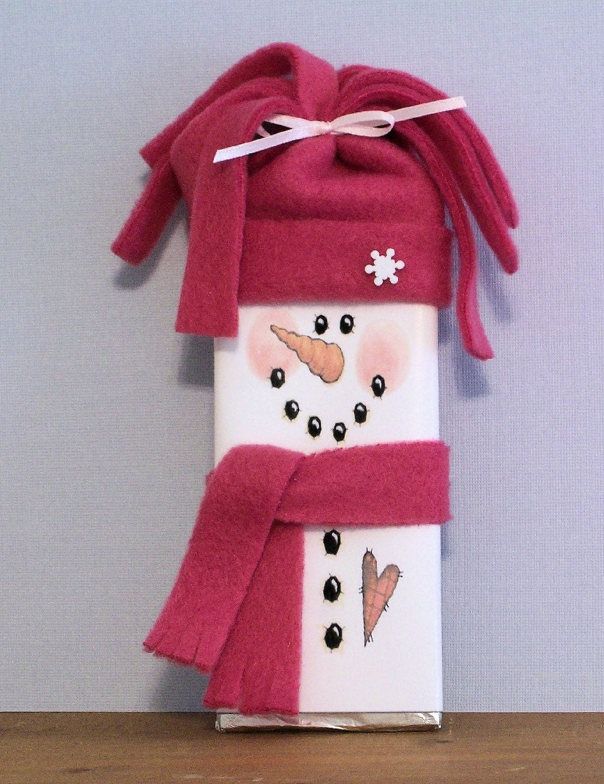 Snowman Candy Bar Wrapper by SuzieQsCrafts on Etsy