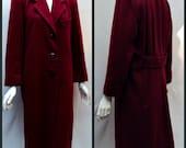 Vintage Coat Cranberry Wool Jacket by Lilli Ann Petites