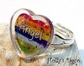 Angel Rainbow Deco Drop Adjustable Ring