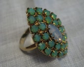 Gorgeous Vintage Rhinestone Marquise Cocktail Ring