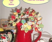 Kanzashi Style Fabric Flower Bouquet PDF Pattern,  Easy Design by FootLooseFancyFree on Etsy