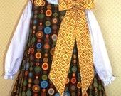 Reversible Aline Dress Pattern PDF Sewing Pattern 6  Mos. - 6 Children, Jumper Pattern, Girl Dress Pattern, Aline Jumper