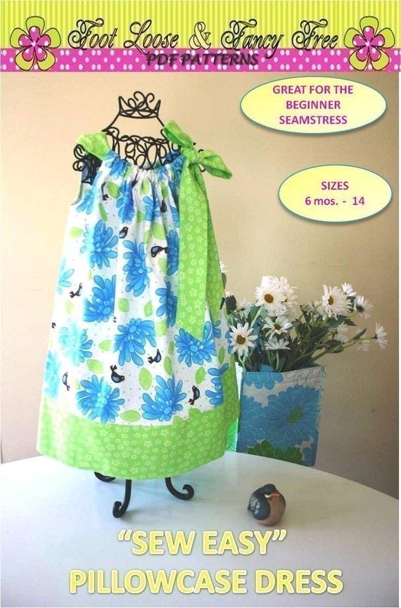 Sew Easy Pillowcase Dress Pattern Size 6 Mos By Olajanepatterns