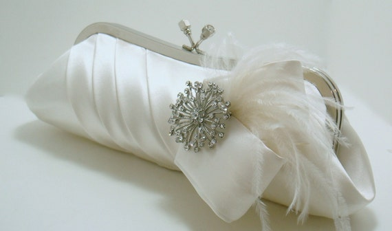 Perfectly Pleated Bridal Clutch
