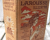 Antique vintage French Dictionary: Illustrated Petit Larousse, 1,760 pages