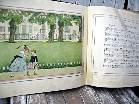 Antique vintage children's book, H. Willebeek Le Mair, 1917, lovely illustrations